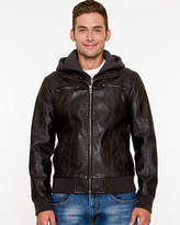 Le Château Leather-Like Hooded Bomber