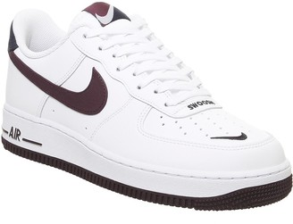 Nike Force 1 Lv8 Trainers White Night Maroon Obsidian
