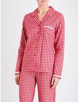 Calvin Klein Check-print cotton-flannel pyjama top