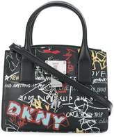 Donna Karan small graffiti tote