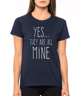 Navy 'Yes...They Are All Mine' Crewneck Tee - Women