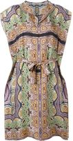 Etro V-neck printed dress