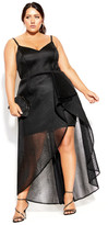 City Chic Glam Jewel Maxi Dress - black