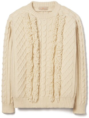Tory Burch Fringe Sweater