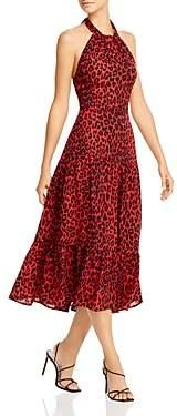 Sam Edelman Leopard Print Halter Dress