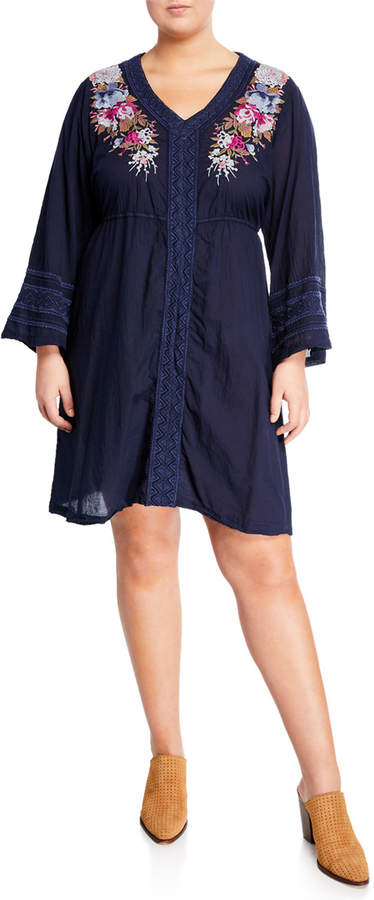 e95076e5d Johnny Was Blue Plus Size Dresses - ShopStyle