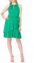 Tahari Women's Tiered Fit & Flare Dress