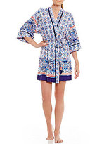 In Bloom by Jonquil Monterey Tile-Print Wrap Robe