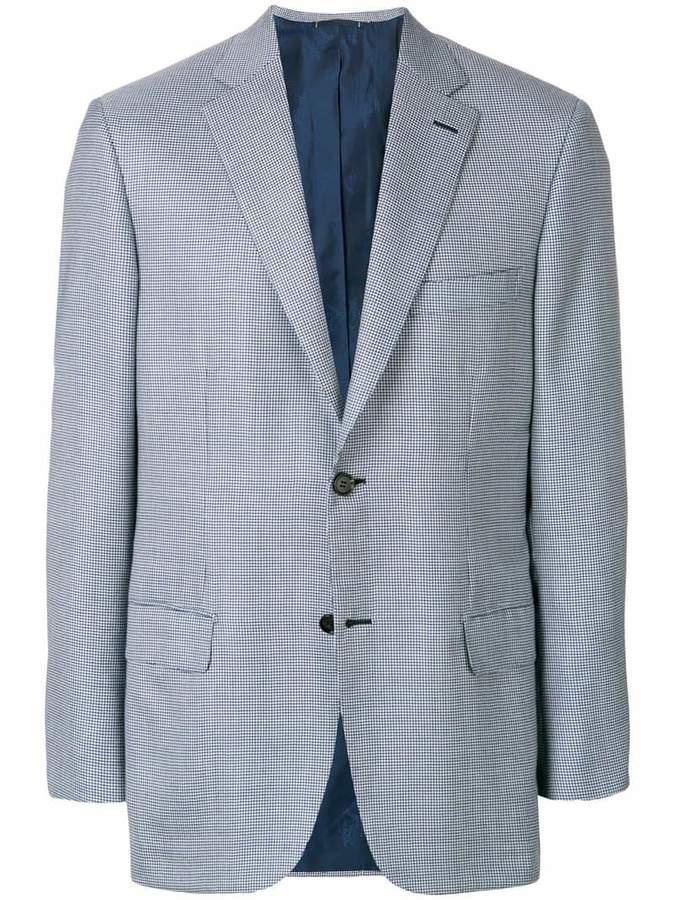 Brioni micro check blazer
