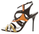 Diego Dolcini Leather Cage Sandals w/ Tags