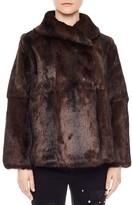 Sandro Zaza Fur Coat