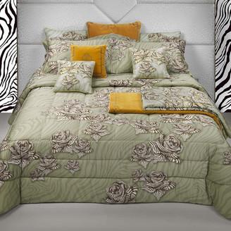 Roberto Cavalli Zebra Rose Bed Set - Sand - King