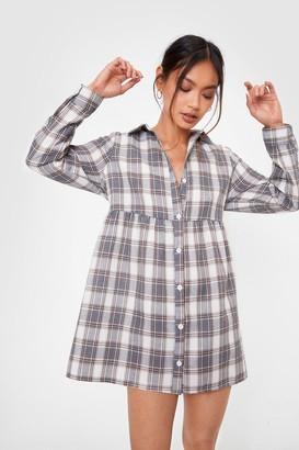Nasty Gal Womens As if Petite Shirt Mini Dress - Navy