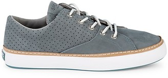 Sperry Perforated Suede Low-Top Sneakers