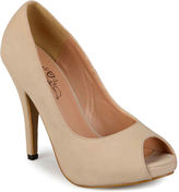 Journee Collection Lois Peep-Toe Pumps