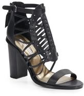 Cynthia Vincent Flora Leather Gladiator Sandals