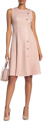Calvin Klein Scuba Suede A-Line Dress