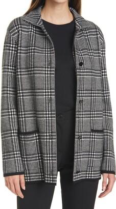SEVENTY VENEZIA Plaid Sweater Jacket