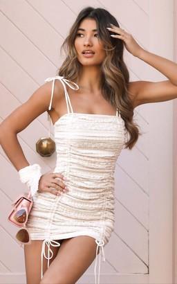 Showpo Shallow Heart Dress in white lace - 8 (S) Dresses