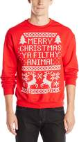 Freeze Men's Merry Christmas Filthy Animal Crew Neck Sweatshirt