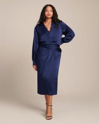 Jonathan Simkhai Fluid Satin Front Slit Dress