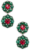 Amrapali Ruby and Emerald Drop Earrings