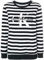 Calvin Klein Jeans striped logo sweatshirt
