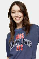 Tommy Hilfiger Womens Navy College T-Shirt By Tommy Jeans - Navy Blue