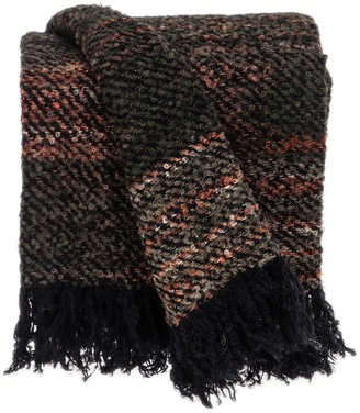 """Parkland Collection Gisele Transitional Black 52"""" x 67"""" Woven Handloom Throw Blanket"""