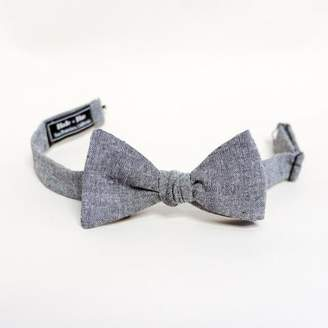 Blade + Blue Grey Chambray Solid Bow Tie