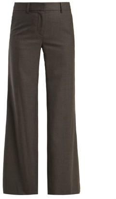 Nili Lotan Irene Wide-leg Wool-crepe Trousers - Womens - Grey