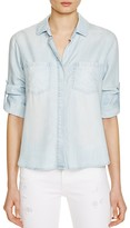 Bella Dahl Split Back Button Down Chambray Shirt