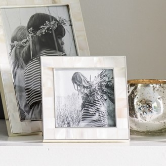 "The White Company Mother of Pearl Photo Frame 3x3"", White, One Size"