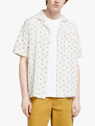 Garbstore Short Sleeve Camp Collar Shirt, White
