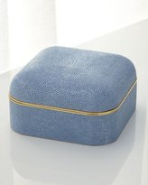 AERIN Blue Shagreen Square Box