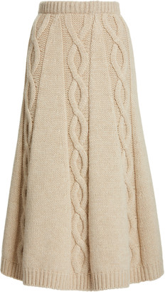 Brock Collection Redden Cashmere Skirt