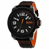 HUGO BOSS Orange 1513343 Men's Black and Orange Nylon and Stainless Steel Watch
