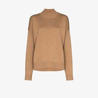 Ganni Mock Neck Merino Wool Sweater