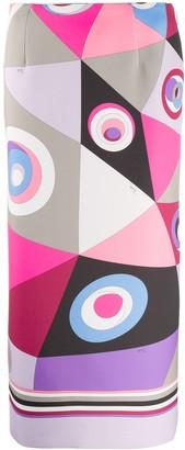 Emilio Pucci Occhi-print pencil skirt