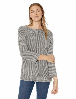 Ruby Rd. Women's Long Sleeve Metallic Eyelash Sweater