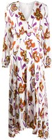 Paul Smith floral long-sleeve flared dress