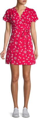 French Connection Floral-Print A-Line Dress