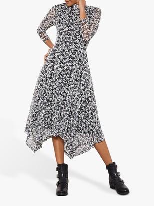 Mint Velvet Bonnie Print Jersey Midi Dress, Multi