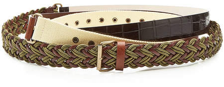 Y/Project Layered Belt with Leather