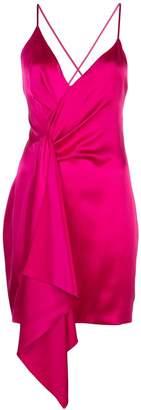 Cushnie Halter silk mini dress