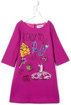 Moschino Kids party print a-line dress