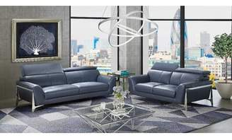 Orren Ellis Binghampton 2 Piece Leather Living Room Set Orren Ellis Upholstery Color: White