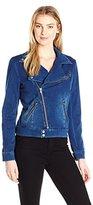 Liverpool Jeans Company Women's Moto Jacket in Powerflex Knit Denim