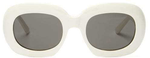Celine Oversized Acetate Sunglasses - Womens - White