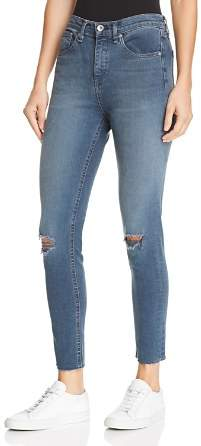 Rag & Bone High-Rise Distressed Ankle Skinny Jeans in Alec